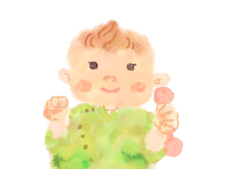 Baby walking watercolor 2