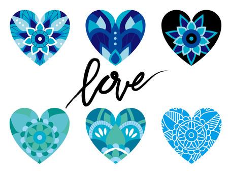 Heart's Mandala Set Blue 01