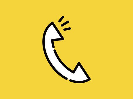 Big icon telephone handset