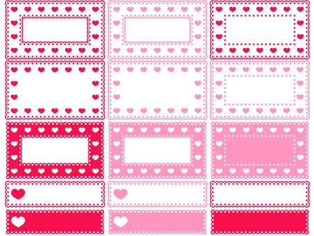 Heart pattern lace mini frame 1