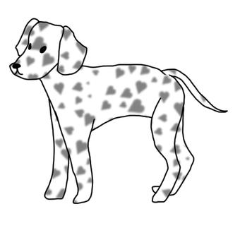 Heart pattern Dalmatian