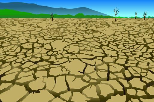 Drought, environmental problems, desert