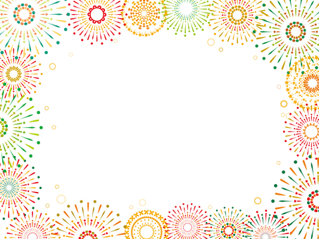 Frame frame fireworks summer bon august july silhouette picture