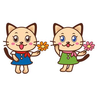 089 - Nakayoshi twin Nyanko