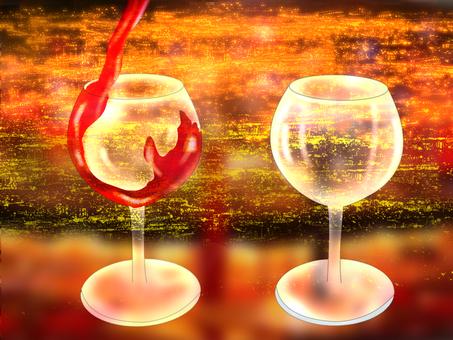 Wineglass night view