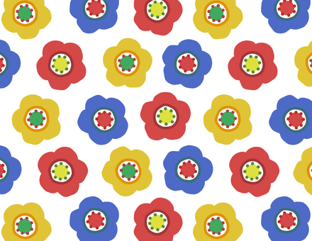 Scandinavian flowers _ pattern _ light