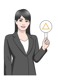 Business suit Female triangle △