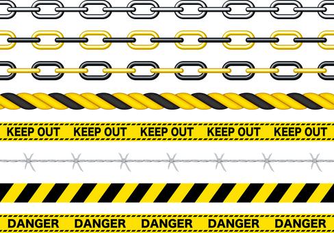 DANGER WARNING No-go accessible brush set