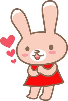 Rabbit in love in love