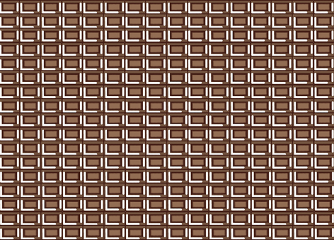 Deformed chocolate style wallpaper illustration