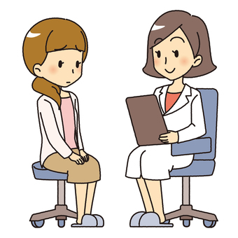 Female doctor's examination