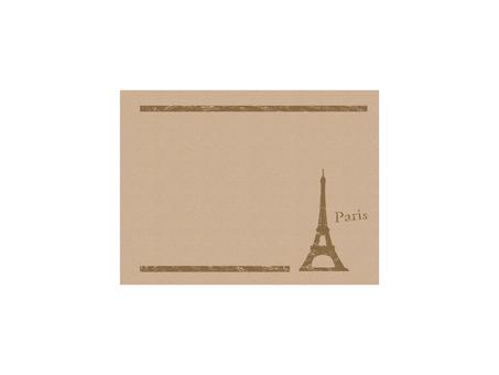 Eiffel Tower Frame 2 Kraft paper style