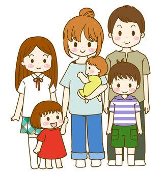 子だくさん家族