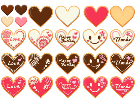 Chocolate cookie set deco 01