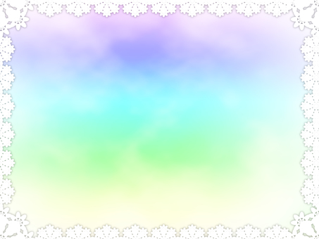 Lace rainbow color frame