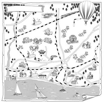 일러스트 맵 쇼난 에노시마