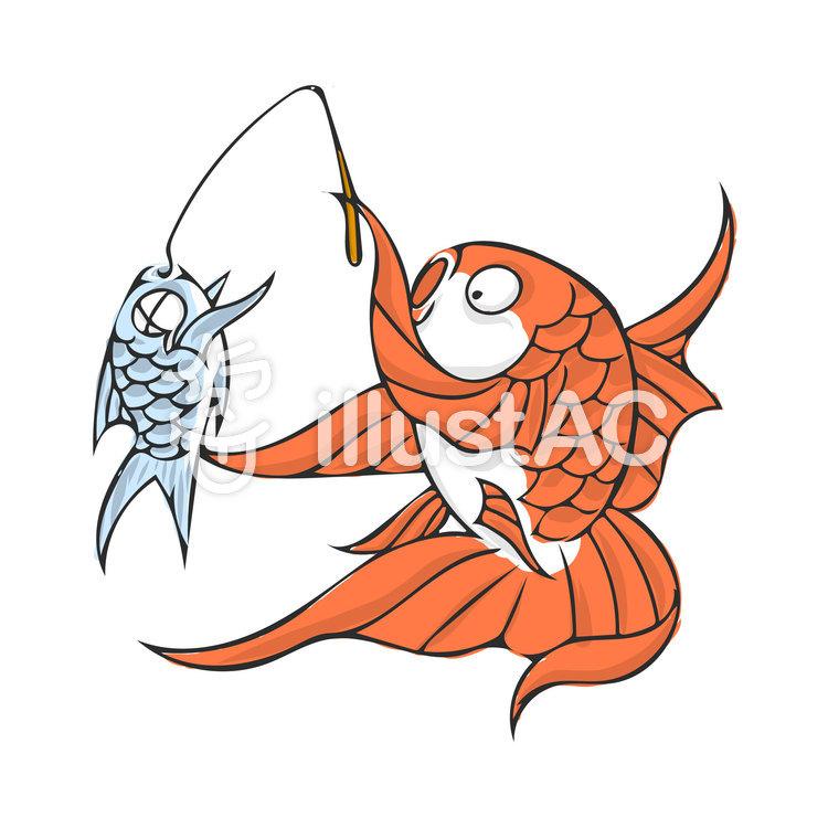 魚の魚釣りイラスト No 818421無料イラストならイラストac