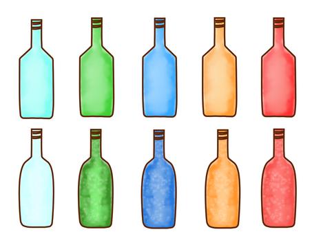 色とりどりのビン
