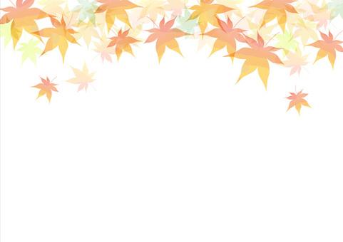 Autumn leaves frame side 1