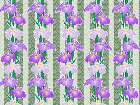 Chiyogami iris (green)