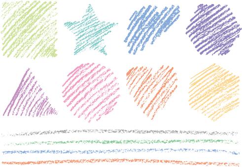 Crayon material 1c