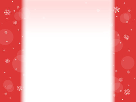 Snow crystal frame background red series