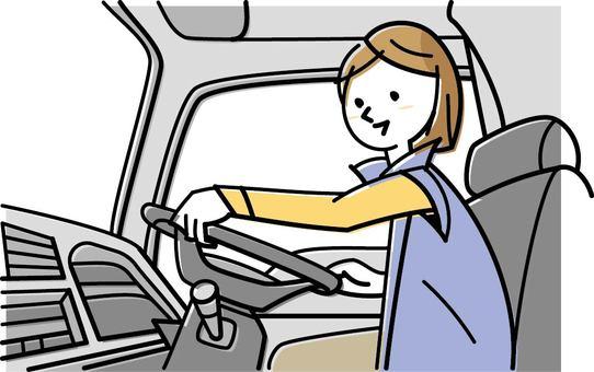Truck driving women