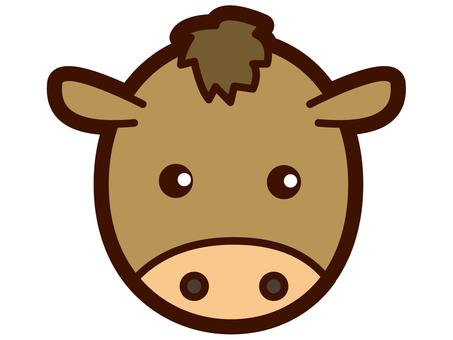 可愛的馬的臉