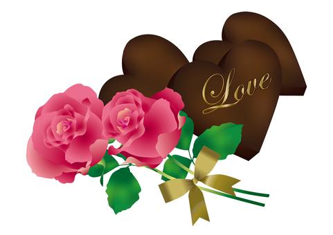 Heart Chocolate & Rose 16
