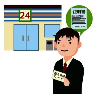 Issuing a certificate at a convenience store 1
