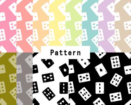 トランプパターン(手描き風)12色