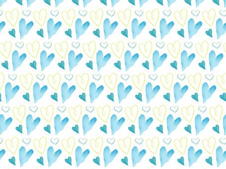 Cute heart pattern (blue)