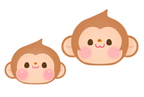 Monkey parent and child (face)