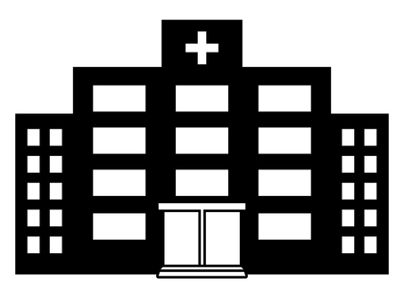 Hospital monochrome icon