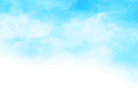 Hand-drawn sky [2] cyan