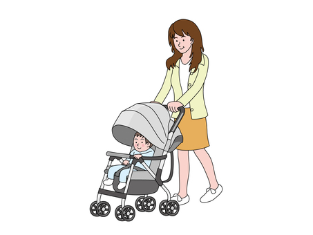 Stroller and Mama 1