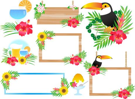 Various summer frames