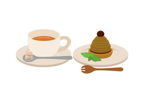 차와 몽블랑