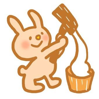 Rabbit mochi with rice cake