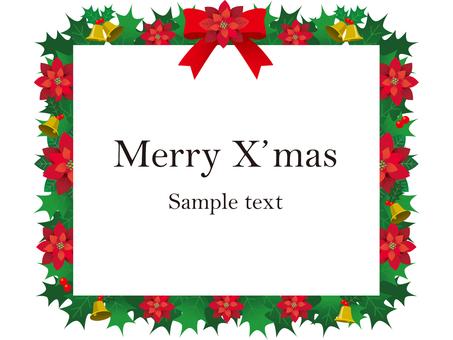 Christmas illustration illustration frame material