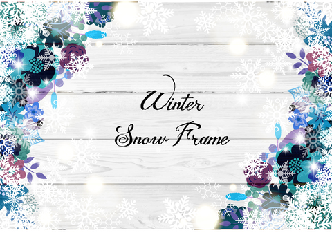 Flower decoration frame 27 Winter