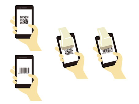 Where to read the QR code and barcode