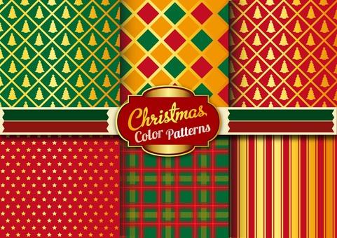 디자인 : 크리스마스 컬러 패턴 2