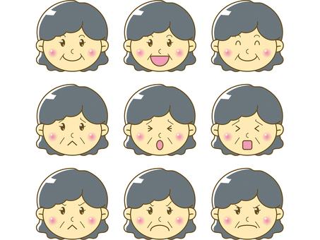 Mature / female face 01