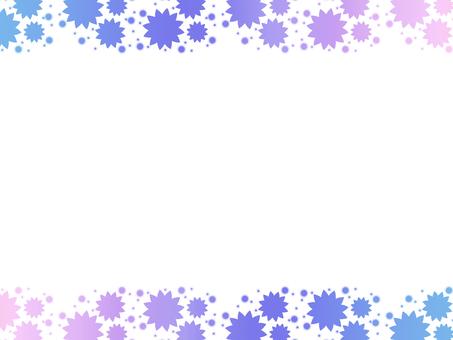Gradient flower frame purple series