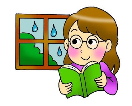 Reading on a rainy day