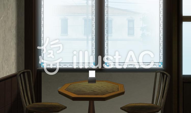 古い建物の店 窓際イラスト No 708684無料イラストならイラストac