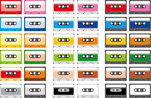 Cassette tape set