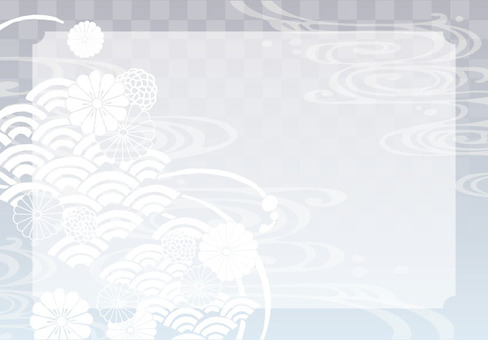 Background (Japanese pattern with 1 silver frame)