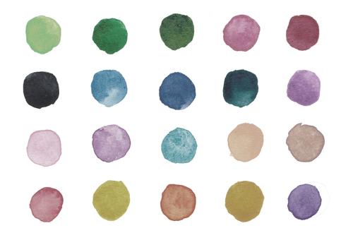 Watercolor polka dots-3